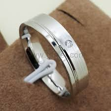 mens silver wedding bands name carved cz diamond silver mens wedding band personalized