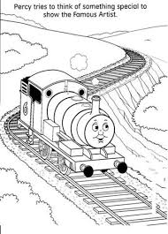 thomas train coloring pages percy cartoon coloring pages