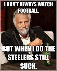 Steelers Suck Meme - i don t always watch football but when i do the steelers still