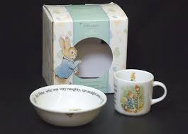 peter rabbit nursery art beatrix potter nursery decor peter rabbit wedgwood 2 piece peter rabbit nursery set by beatrix potter bowl and cup vfine