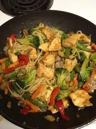 asian stir fry pasta chicken stir fry veggies angel hair pasta