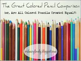 ordinary lovely the great colored pencil comparison or are all