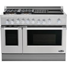 Cooktop With Griddle And Grill Dcs Professional 48 Inch 4 Burner Natural Gas Range With Grill