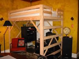 Building A Loft Bed Frame Stylish Loft Bed Frame Glamorous Bedroom Design