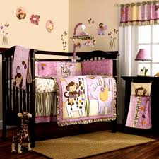 cute modern baby room purple with colorful wall paint nursery