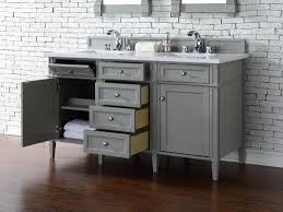 Bathroom Vanities 60 by Contemporary 60 Inch Double Sink Bathroom Vanity Gray Finish No Top