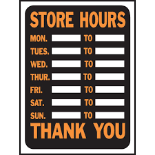 hy ko 9 in x 12 in plastic store hours sign 3030 the home depot