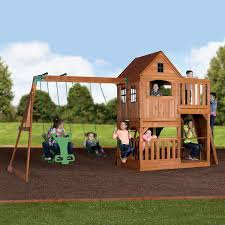 Amazon Backyard Playsets by Amazon Com Backyard Discovery Pacific View All Cedar Wood Playset
