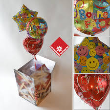 balloons in a box mylar balloon with message from montreal florist the flower pot