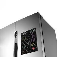 tableau magn ique pour cuisine tableau magnétique et aimanté pour frigo cuisine noir facilandco