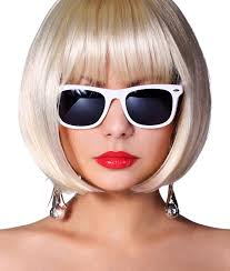 bob hairstyles for glasses fashion blonde model with sunglasses glamorous young woman stock