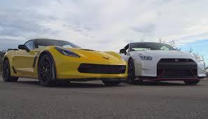 gtr or corvette war iii corvette z06 vs nismo gt r car tv