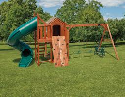 cabinette w afr 2 swingset u0026 slide tower backyard escapes