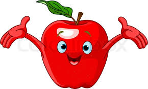apple cartoon cheerful cartoon apple character stock vector colourbox