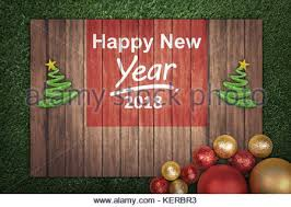New Year Board Decoration by Wooden Brown New Year 2018 Christmas Background And Snowflakes