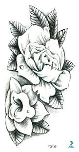 tattoo decal paper buy amazon com yeeech temporary tattoo sticker paper large flower