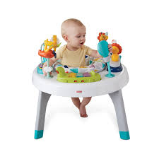 table d activité avec siege rotatif jumperoo pétales de fisher price le shopping de zoé