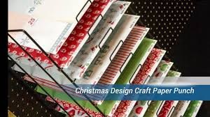 christmas design craft paper punch youtube