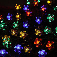 solar led christmas lights outdoor muti color solar led fairy lights outdoor party wedding decoration