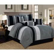 Black And White Queen Bed Set Black Comforters