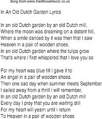 1940s top songs lyrics for in an garden glen miller