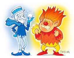cold miser and heat miser drawing spooky