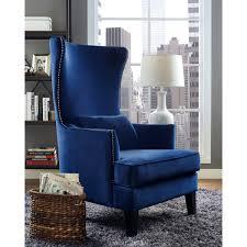 tov furniture tov a102 bristol navy velvet tall accent chair w