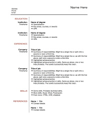 layout for resume