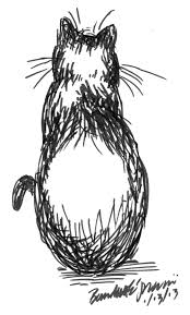 daily sketch simple shape mimi the creative cat
