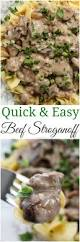 Quick Easy Comfort Food Recipes Quick And Easy Beef Stroganoff The Chunky Chef