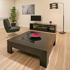 coffee table coffee table large square black oak glass modern hi