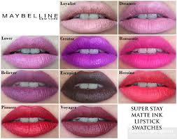 Maybelline Superstay Matte Ink maybelline stay matte ink liquid lipstick lip swatches