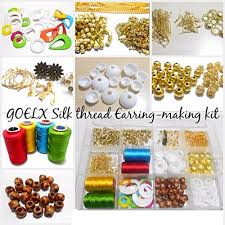 thread earrings goelx silk thread earring jhumka kit all jhumka