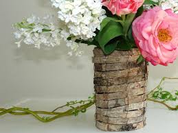 Birch Home Decor Birch Bark Vases Planter Wedding Table Decor Flower Pot Rustic