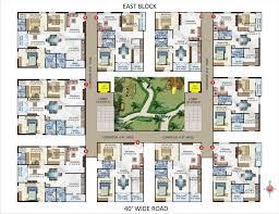 Apartment Block Floor Plans Eeco Valley By Srija Builders U0026 Developers 2 3 Bhk Apartments In