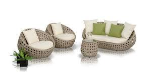 Modern Wicker Patio Furniture by Akoi Modern 4 Piece Patio Sofa Set