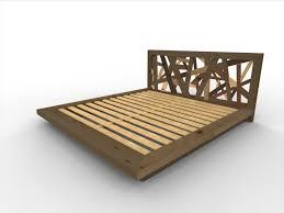 Flat Platform Bed Frame by Bedroom Brown Wooden Kingsize Platform Bed Plus Headboard Using
