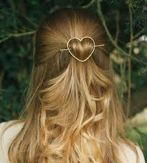 barrette hair heart barrette stick women s accessories kapelika metal hair