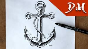 anchor drawing youtube