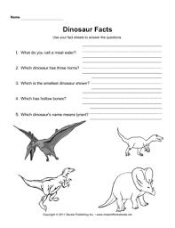 dinosaurs worksheets u2014 instant worksheets