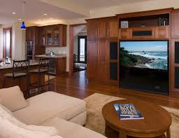 Remodeling Family Room Design With Screen Builtin Coffee Table - Family room entertainment