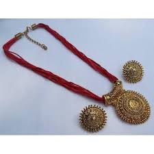 red necklace online images Buy red thread mangalsutra necklace set online looksgud in jpg