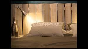 lit avec des palettes tête de lit déco youtube