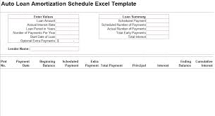 Amortization Schedule Excel Template Auto Loan Amortization Schedule Excel Template Free Crunch Template