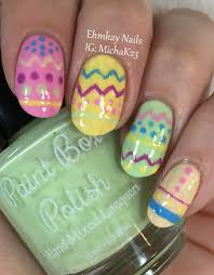 Easter Nail Designs Ehmkay Nails Easter Nail Art Easter Eggs Nail Art With Paint Box