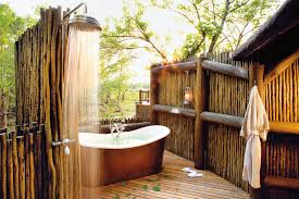 best vacation suites with outdoor bathrooms makeovers wooden wall