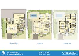 Villa Floor Plan by Floor Plans Of Al Forsan Village