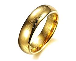 ring of men asma lord of the rings gold color ring for men in jewellery