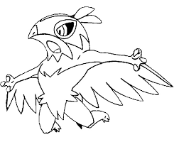 coloring pages pokemon hawlucha drawings pokemon