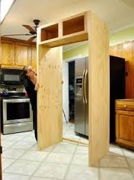 doors beside built in fridge side cabinet fridge in corner
